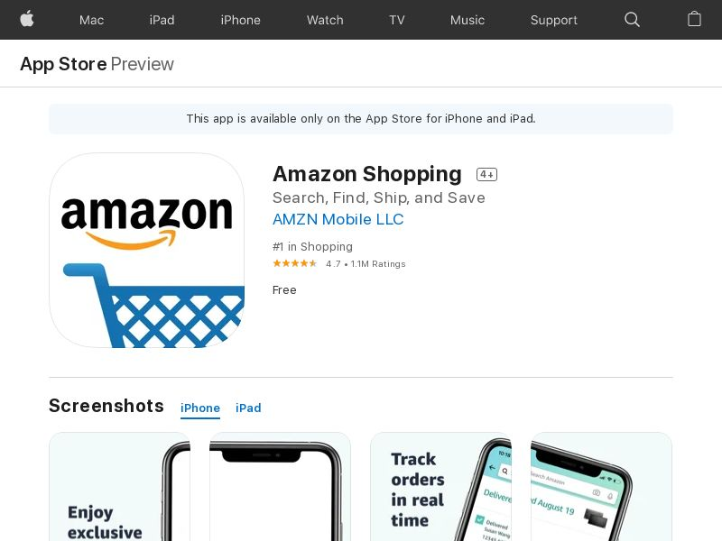 Amazon Shopping iOS IN IDFA