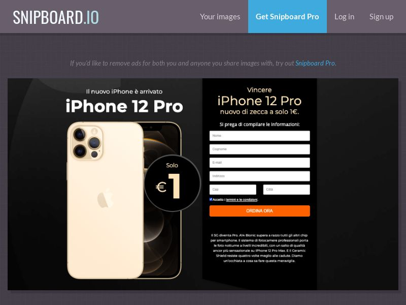 39169 - IT - SteadyBusiness - iPhone 12 Pro (LP 62 Rose Gold) - CC submit