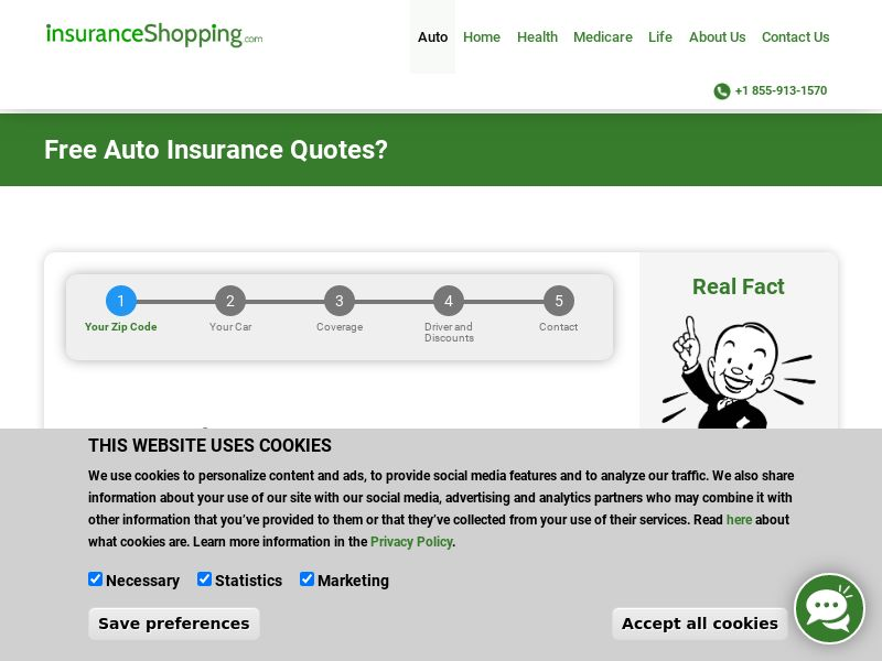 InsuranceShopping.com- Auto- Email Only