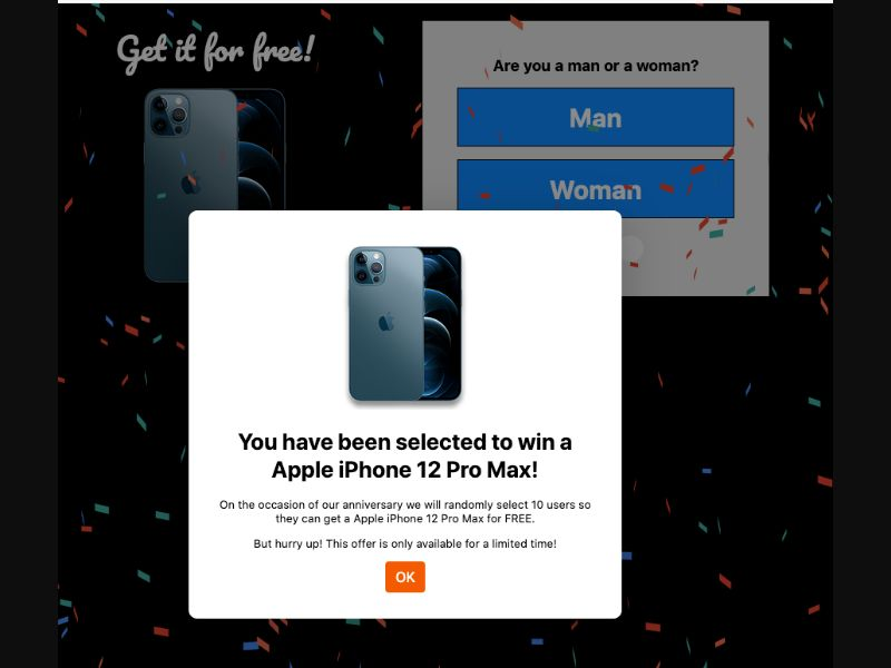 Win iPhone 12 Pro Max (IVR) [WW] - Click to call