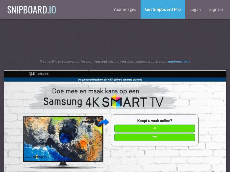 NectarContests - Samsung 4K TV (NL) (CPL) (Personal Approval)