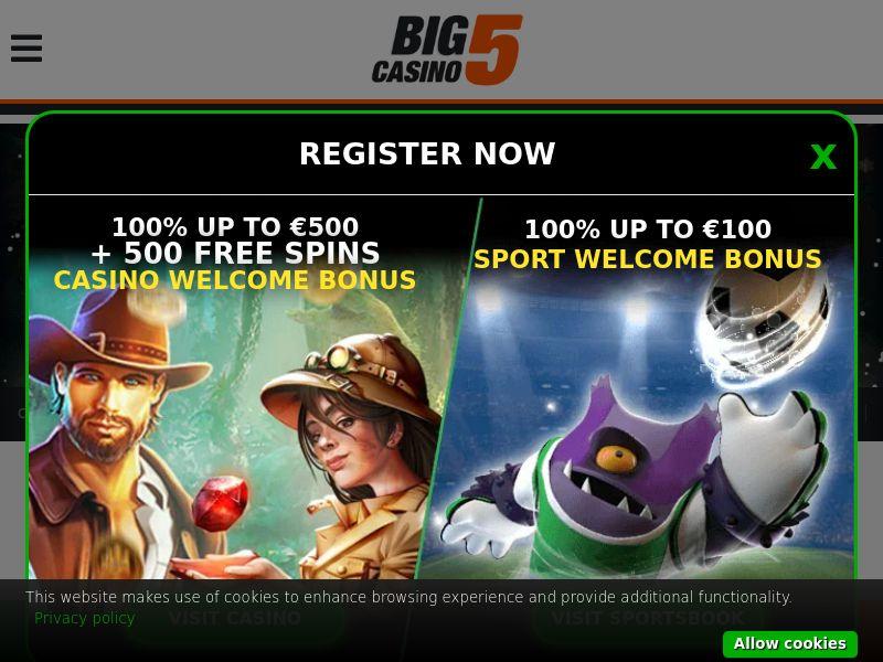 Big5Casino.com Casino CPA - DE, NL, FI, NO, NZ & CA