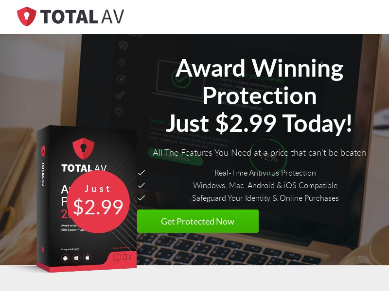 Total AV Antivirus (US, UK, CA, AU, NZ) (CPS) (Personal Approval)