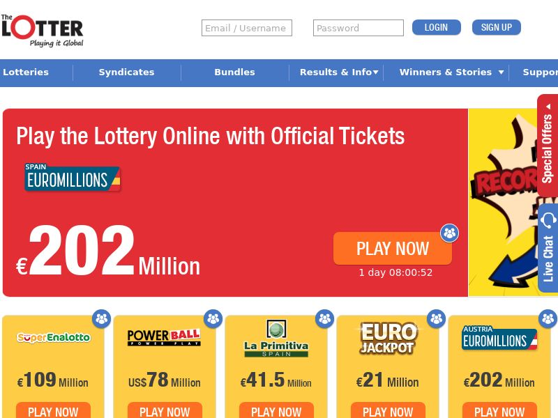 Thelotter.com Lottery Revenue Share - India