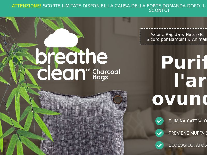 Breathe Clean Charcoal Bags LP01 (ITALIAN)