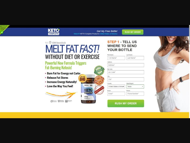 Keto Complete - Diet & Weight Loss - SS - NO SEO - [28 GEOs]