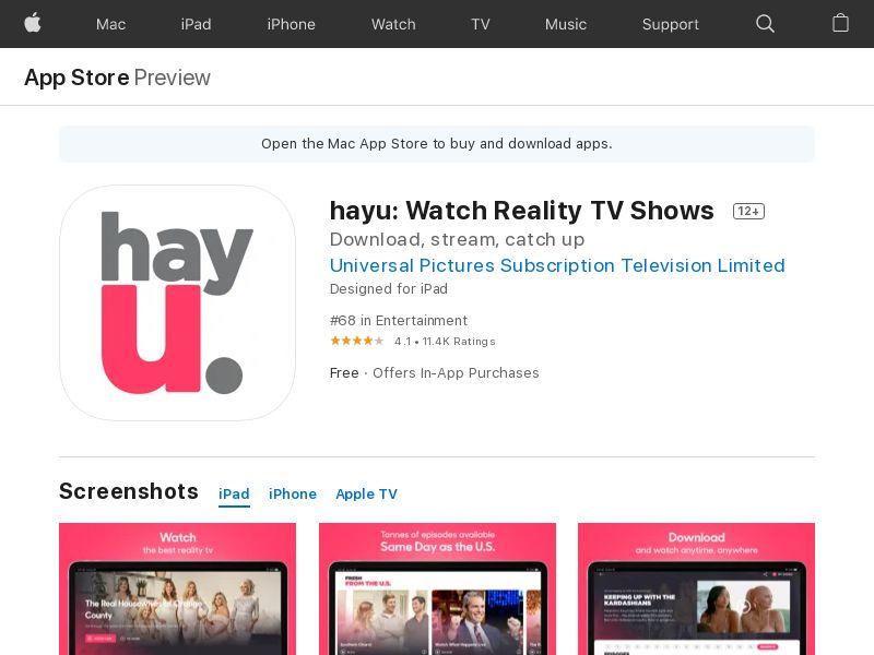 Hayu iOS UK CPA (appname required)