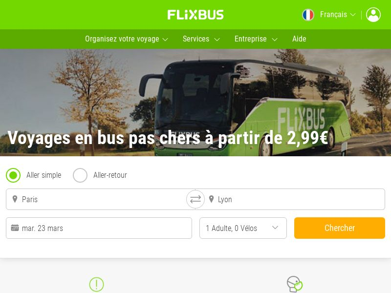 Flixbus - FR (FR), [CPL | CPS], Transport and Travel, Transport, Sell, holiday