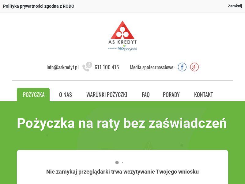 Askredyt.pl (PL), [CPA], Business, Loans, Short term loans, Long term loans, Loan Approval, loan, money, credit