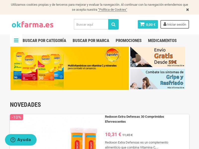 Okfarma - ES (ES), [CPS], Health and Beauty, Cosmetics, Supplements, Diets, Medicine, Sell, coronavirus, corona, virus, keto, diet, weight, fitness, face mask