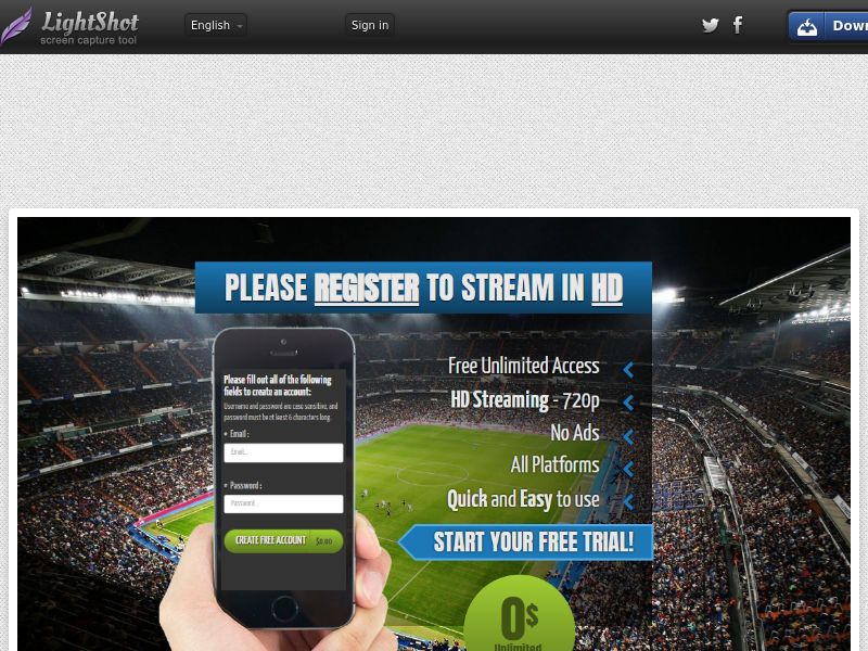 Sugar Beats Soccer Sports HD Streaming (Video Streaming) (CC Trial) - Other Geos Tier 1 [38 Countries]