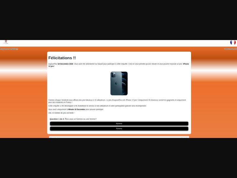 iPhone 12 FR with Prelander [FR] - SOI registration