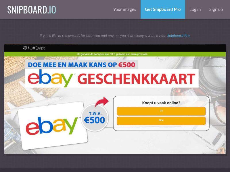 37352 - BE - NectarContests - Ebay (dutch) (WithPrelander) - SOI