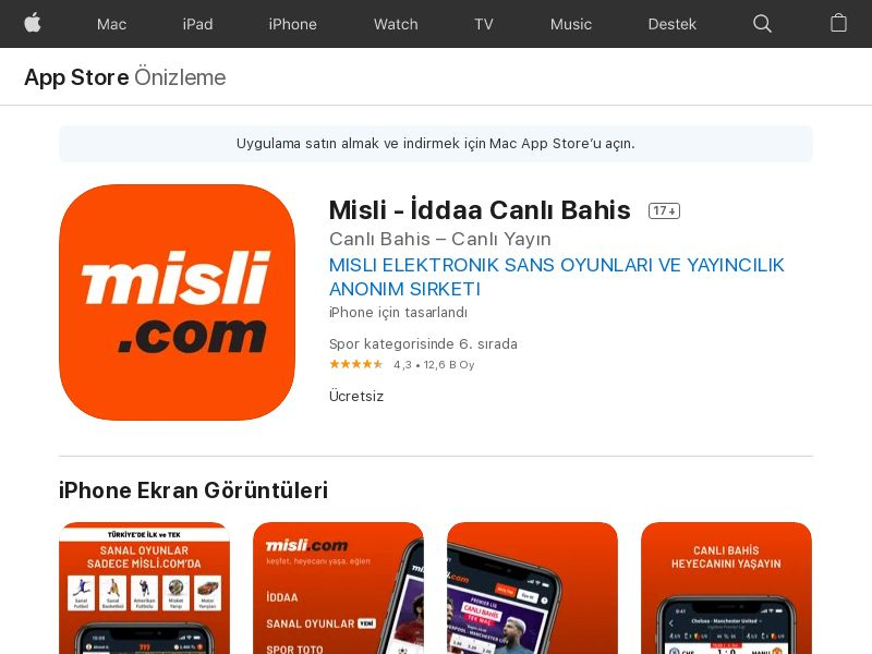 Misli TR CPI IOS (non-incent) *KPI