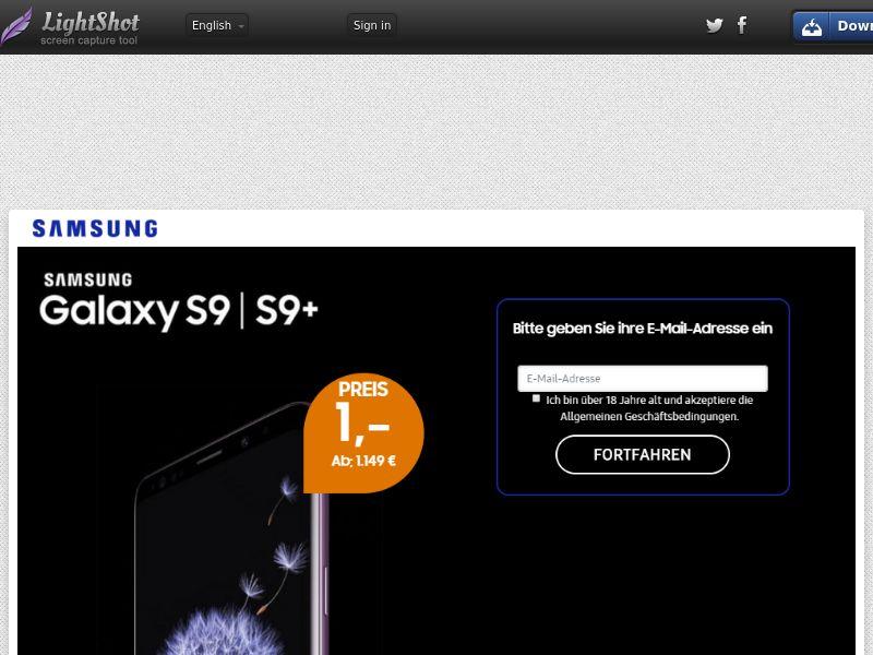 Getup Live Samsung S9 (Sweepstake) (CC Trial) - Germany [DE]