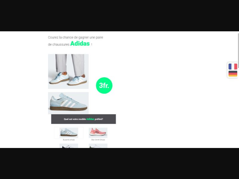 Adidas - Sweepstakes & Surveys - Trial - [CH]