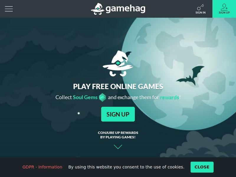 Gamehag - Desktop - CZ,HU,BG,ES,IL,PT,PL,HK,RO,LV,RU - Incent OK (CPE - Collect 500 Soul Gems)