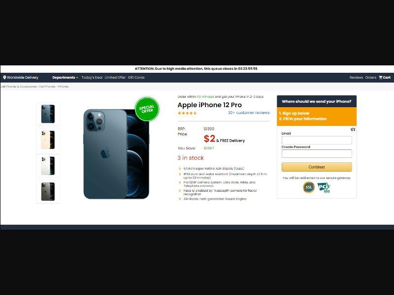 International - Amazing Apple iPhone 12 [MY,OM,PR,QA,SA] - CC Submit