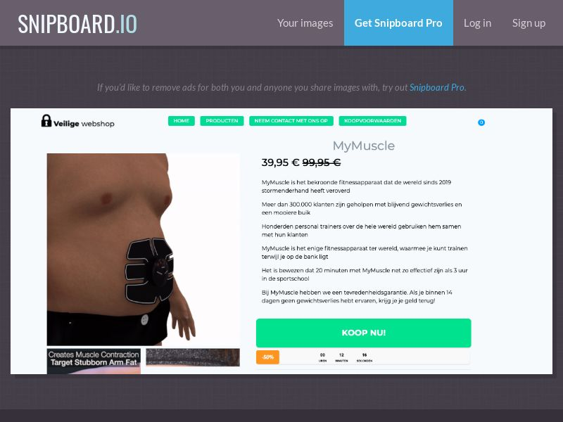 37487 - BE - E-Commerce - MyMuscle (dutch) - SS