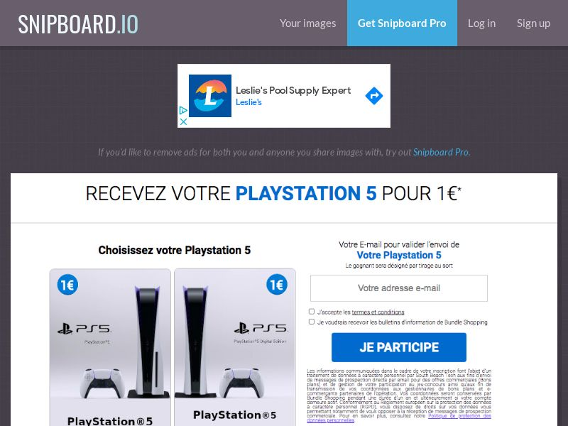 BundleShopping - Playstation 5 FR/BE - CC Submit