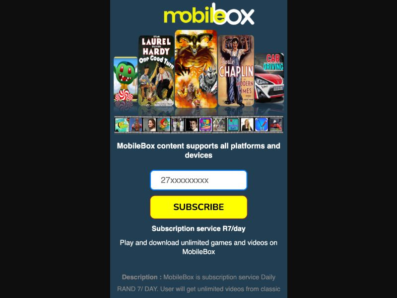 Mobile Box NS - 2 Clicks - ZA-Cell - Online Games - Mobile