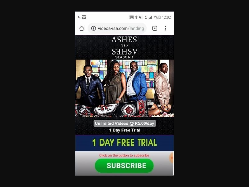 Ashes to Ashes (ZA)