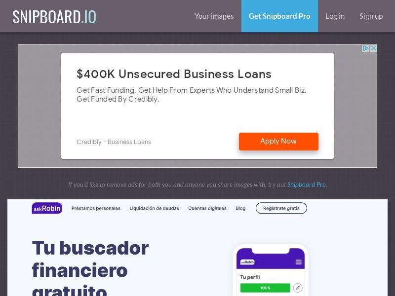 41042 - MX - Loan Comparison - askRobin - SOI