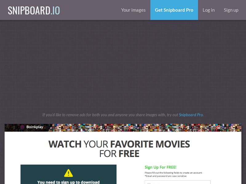 BoinkPlay - VOD Movies IE - CC Submit