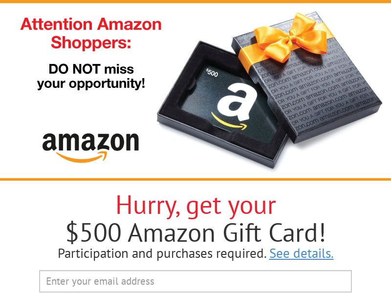 $500 Amazon Gift Card - CA - Email Submit - Incent
