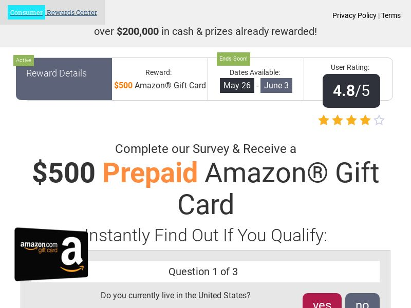CRC Amazon - US (Incent) - CPL - DIRECT