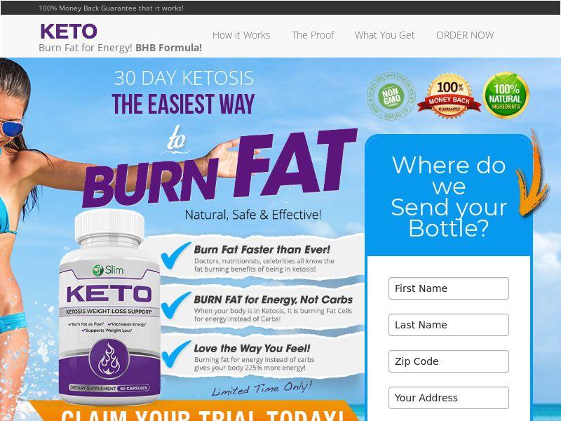 Nu Slim Keto (Trial W/1 Click Upsell) (US) (CA) (SMS Allowed)