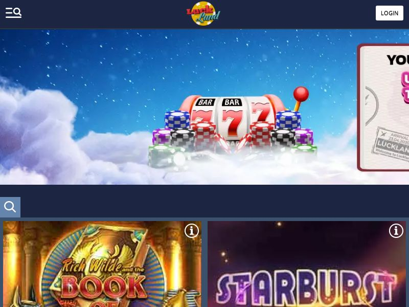 Luckland - Home page - FB+Apps - CA