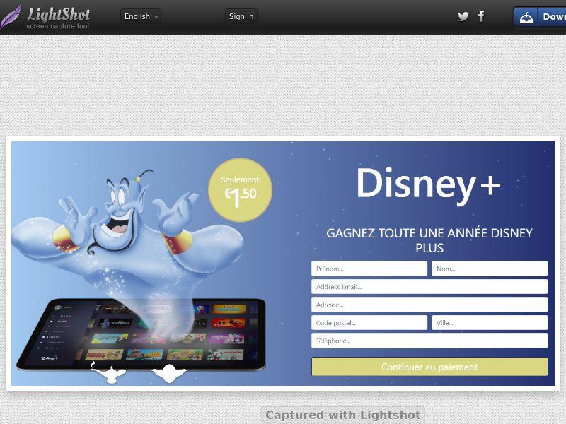 winlotsofthings Disney+ (Streaming) (CC Trial) - France