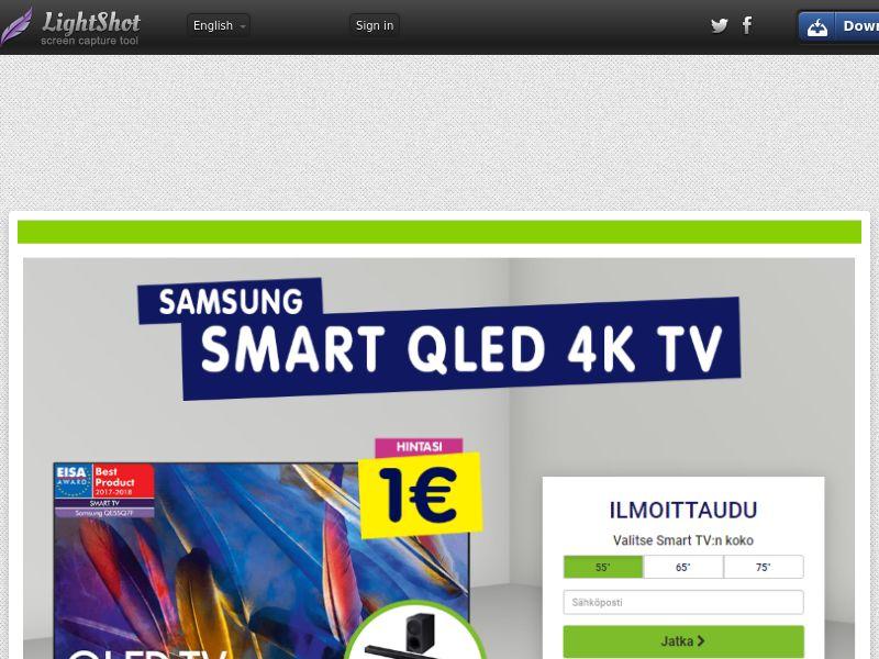 Samsung QLED TV (Sweepstake) (CC Trial) - Finland [FI]