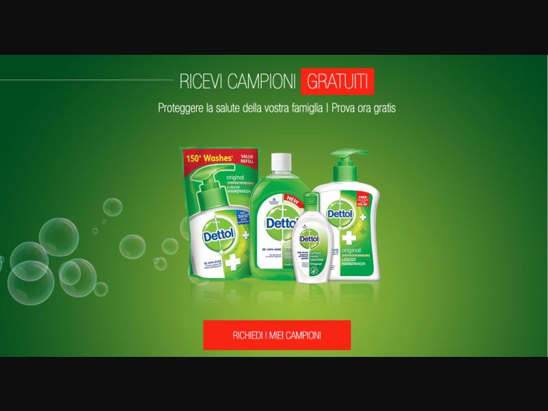 Dettol - CPL SOI - IT - Sweepstakes - Responsive