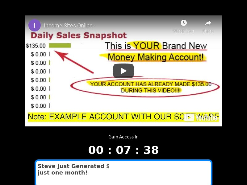 Income Sites Online $47 CTC (CPS) - US