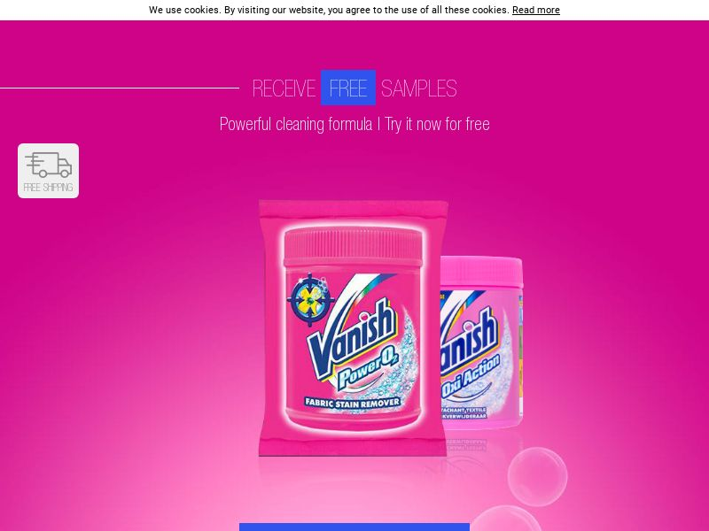 Vanish Free Sample [UK] (Email,Native,Social,Banner,Push) - CPL