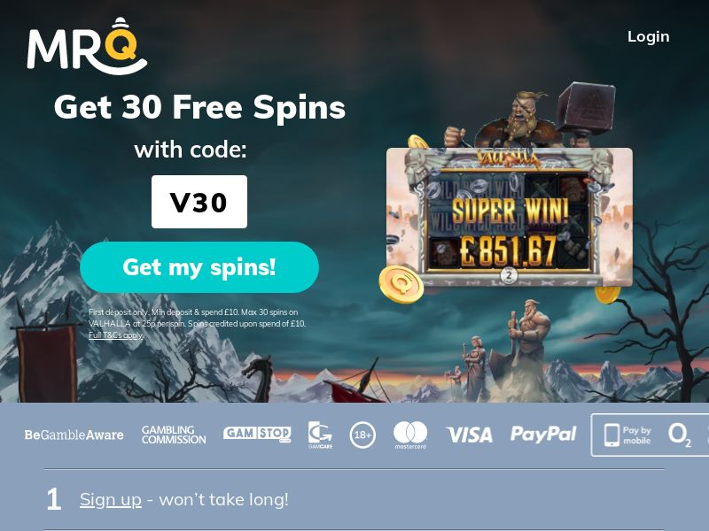 MrQ - Get 30 Free Spins - CPA | UK