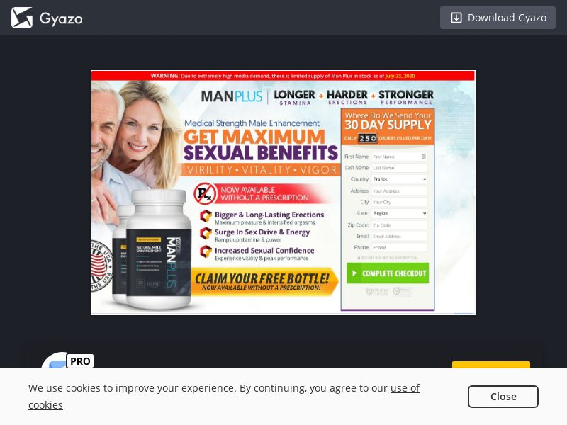 Man Plus (INTL) (CPS) (Personal Approval)