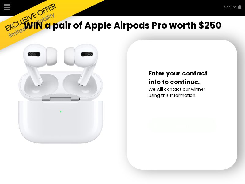 Win a pair of Apple airpods pro - US