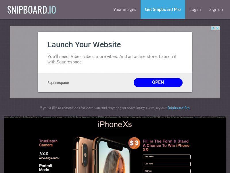 BigEntry - iPhone XS v5 AU - CC Submit