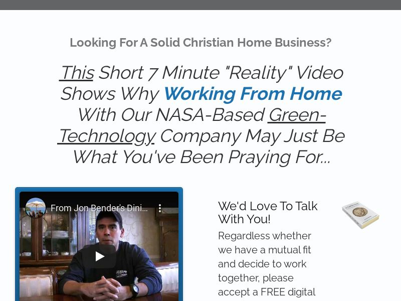 Christian Home Business - 1st Page Submit   US, CA