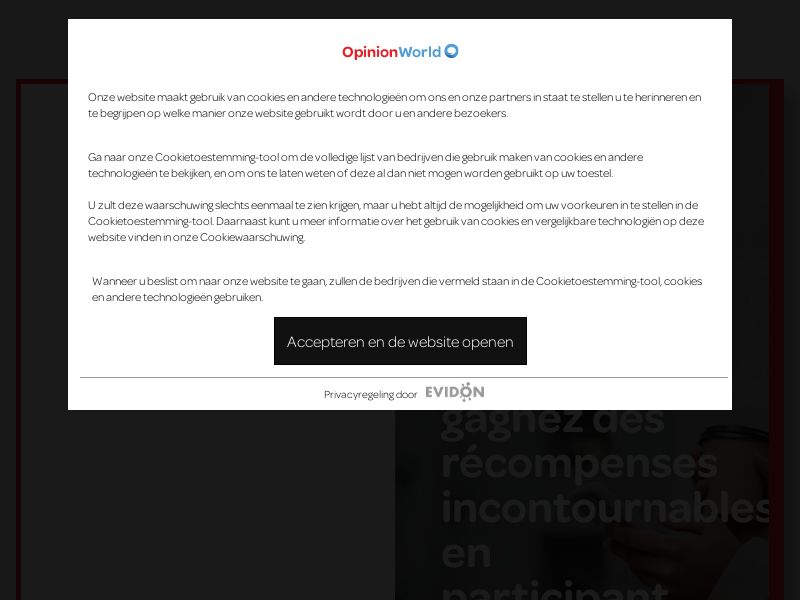 Opinion World Belgium (French) - CP1F | BE
