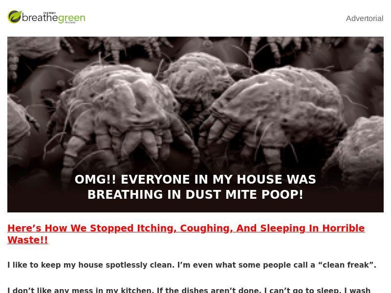 Breathe Green Dust Mites