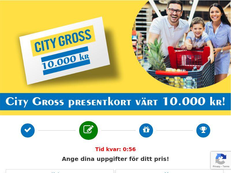 12688) [WEB+WAP] City Gross 10.000kr Voucher - SE - CPL