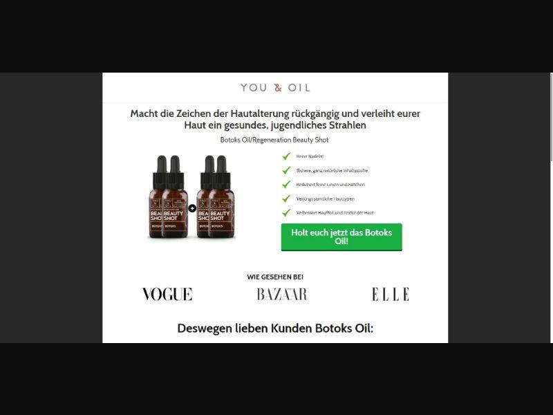 You & Oil Beauty Shot Botoks - V1 - Skin Care - SS - NO SEO - [DE, AT]