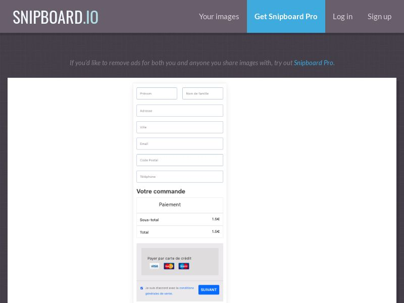 Blank sign up page BE | CC Sub (french)