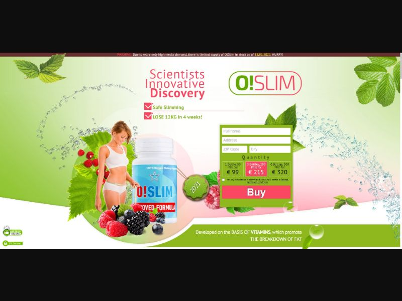 O!Slim - Diet & Weight Loss - SS - [IE]