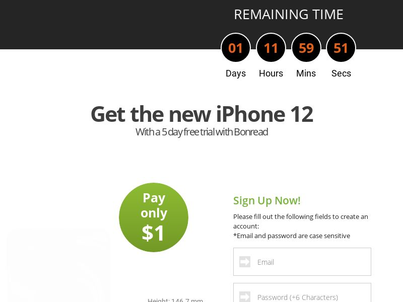 AdCenter Sweepstakes (iPhone 12) - CPA, CC Submit, Multi-Geo