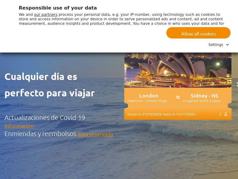 lol.travel - ES (ES), [CPA | CPS], Transport and Travel, Accommodation, Transport, Sell, holiday